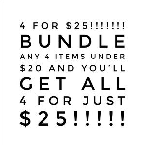 4 items for $25!!!!!!!SALE!!!!!SALE!!!!!!!